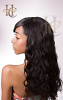 natural remy hair with wavy texure