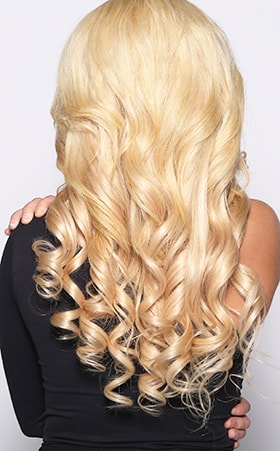 Beautiful blonde remy hair supper long lasting blonde hair back view remy blonde hair extensions pmusecretfo Image collections