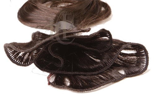 Indian remy hair with a hand-tied weft
