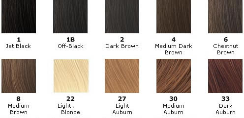 Indian remy hair extensions color chart